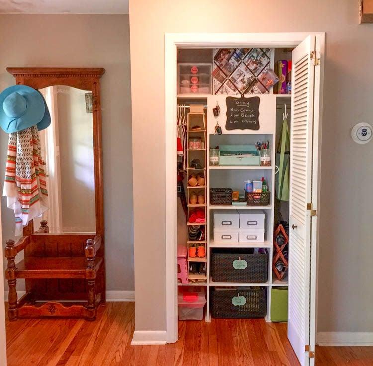 How To Turn A Hallway Closet Into A Family Command Center Momaha