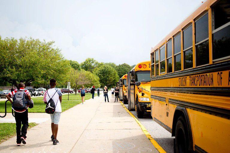 School buses at Burke