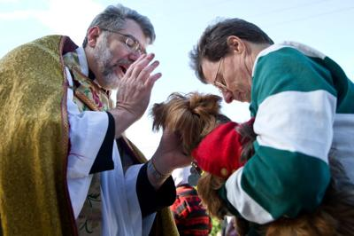 On cold Saturday, still plenty of warmth at St. Cecilia pet blessing