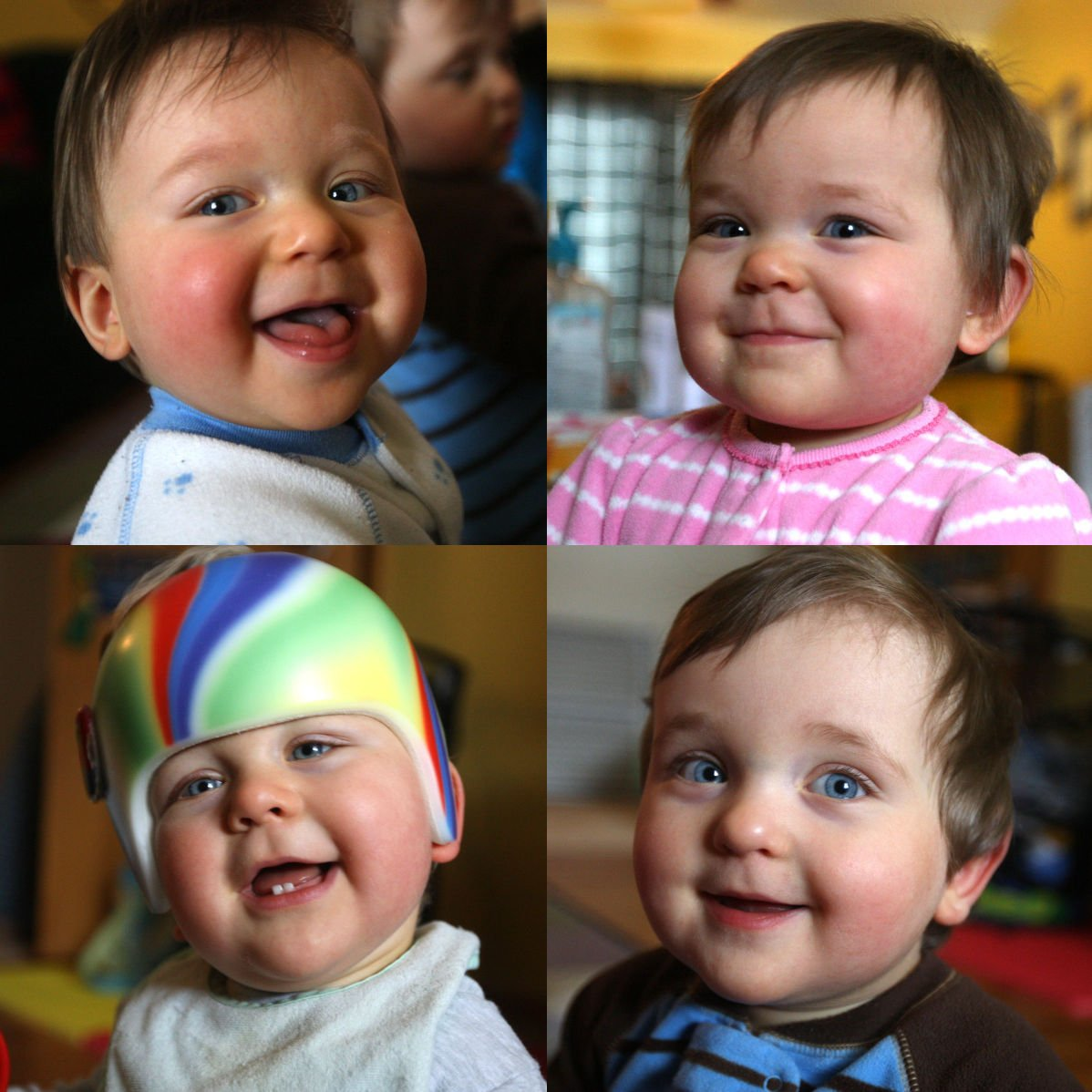 Moore quadruplets at one year
