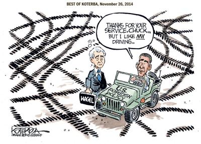 Best of Jeff Koterba's cartoons: Driving foreign policy