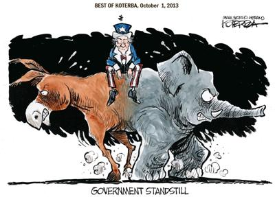 Best of Jeff Koterba's cartoons: Government standstill