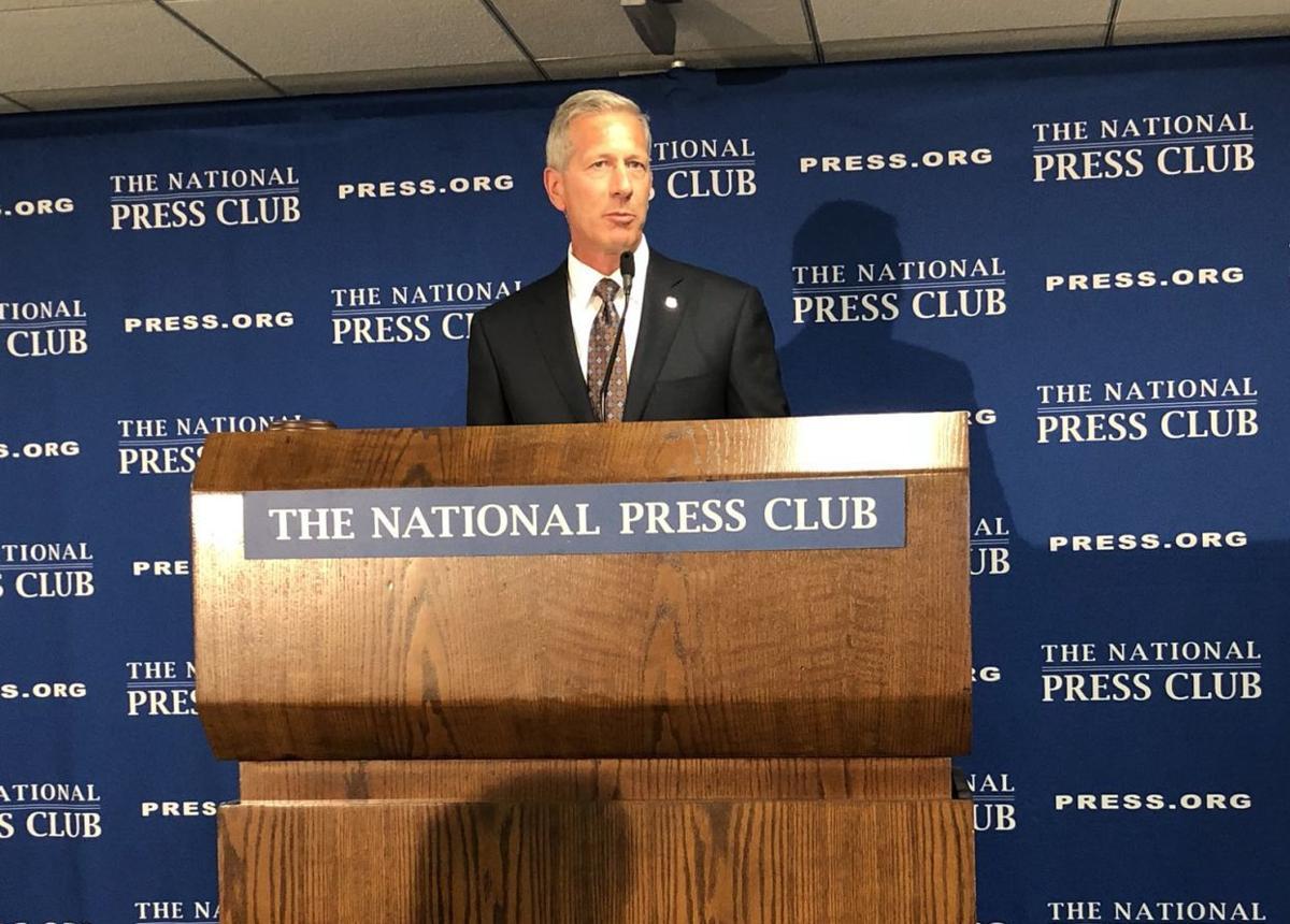 Lance Fritz at the press club