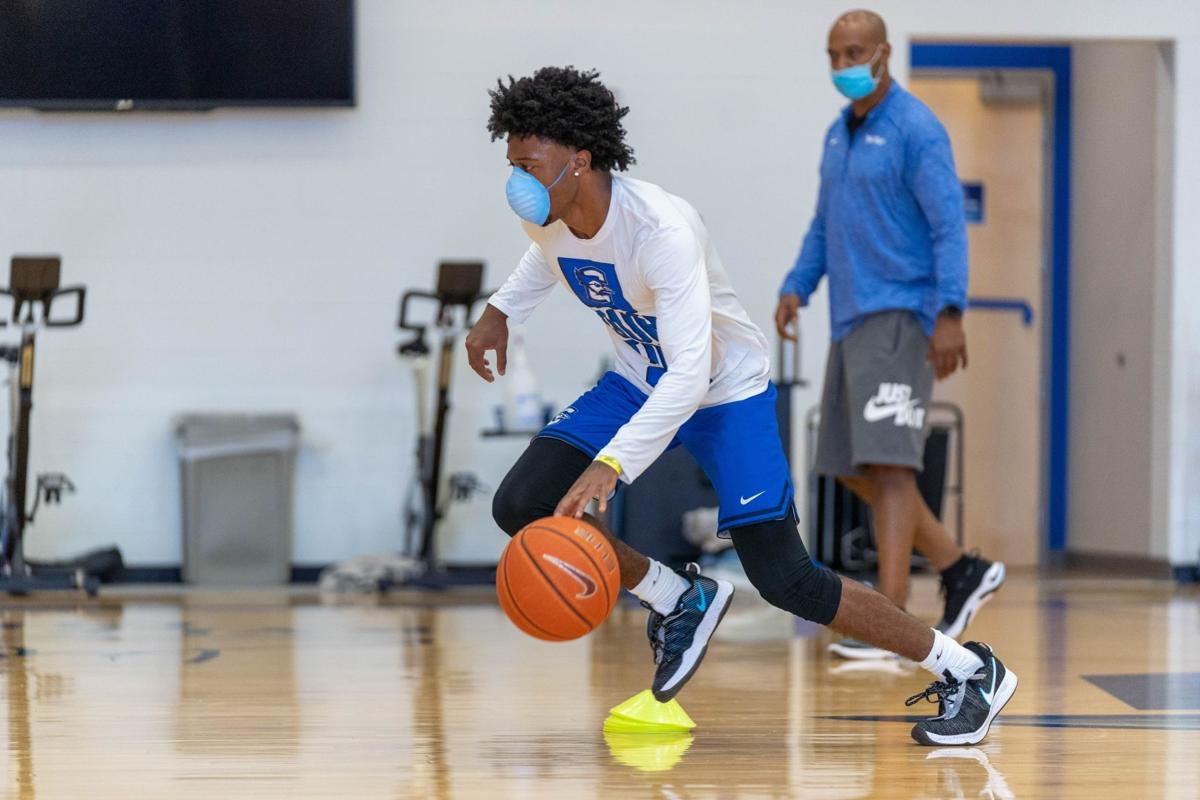 For Creighton basketball, there's no masking the issues of practicing in a pandemic