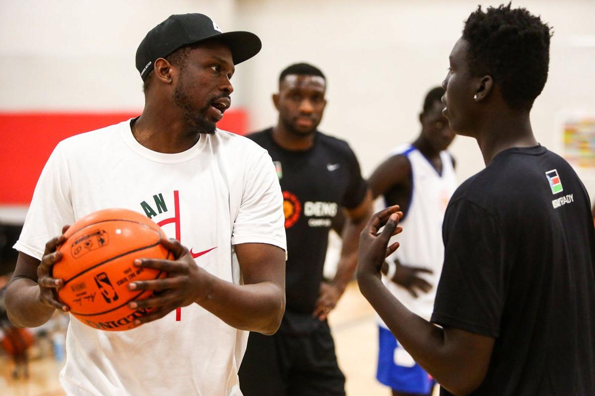 NBA standout Luol Deng s camp aims to teach Sudanese lessons