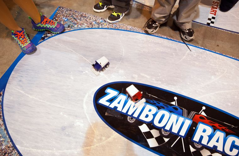 Zamboni races lure a crowd at opening day of skating's FanFest