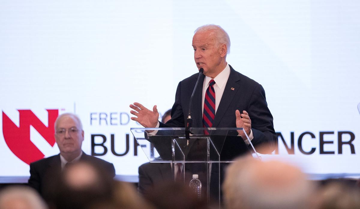 Joe Biden at Buffett Cancer Center