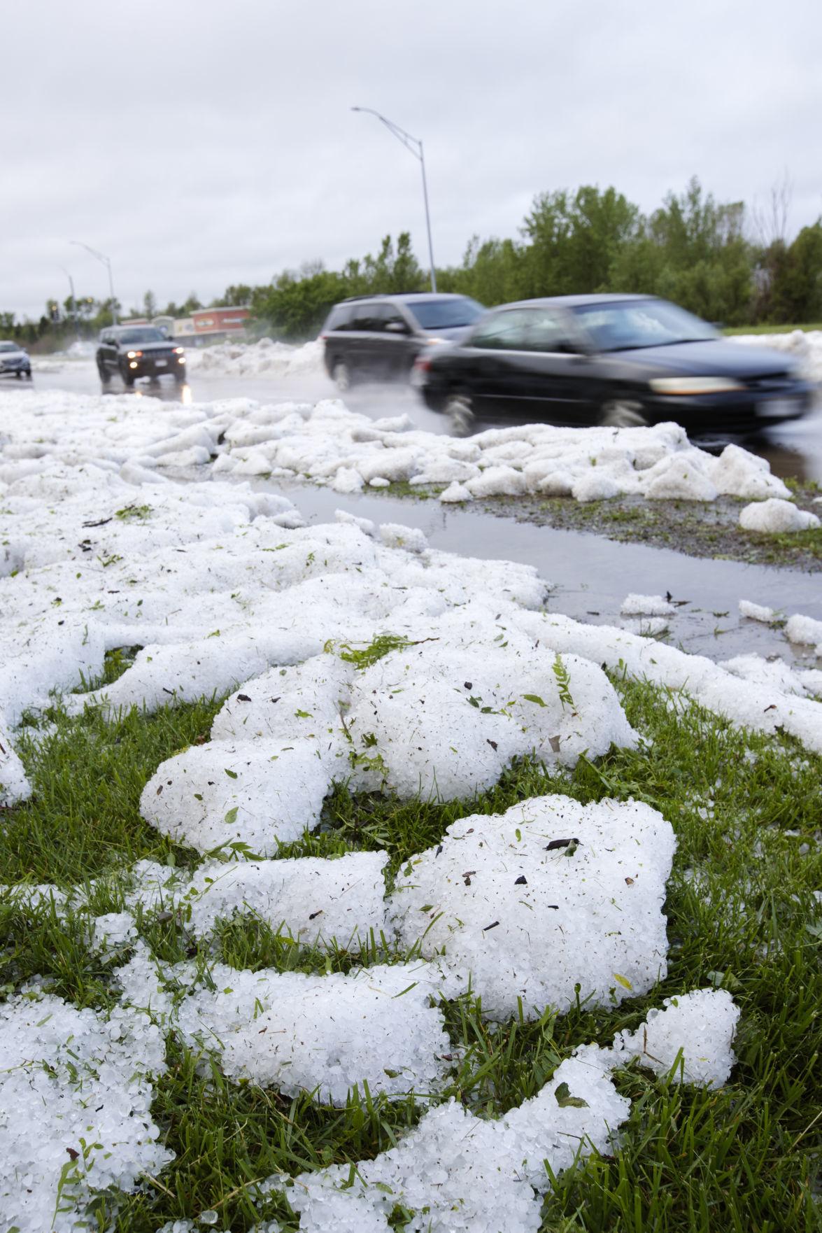 Hail piles 5-28
