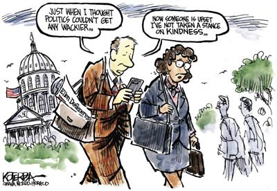 Jeff Koterba's latest cartoon: Just when politics couldn't get any wackier...