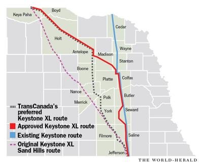 Approved Keystone XL route