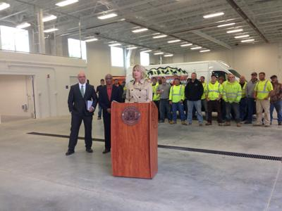 City officials opening yard