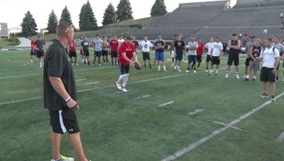 Video: During weekend drills, Foltz's booming kicks left campers in awe