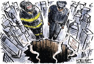 Jeff Koterba's latest cartoon: Standing tall