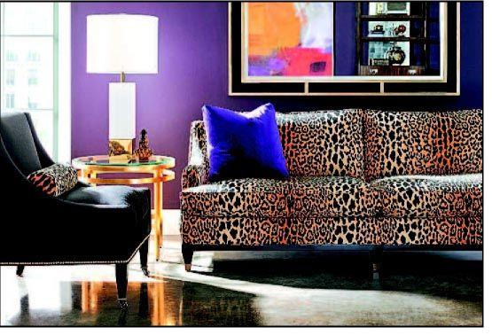 Leopard prints leap back into home decor