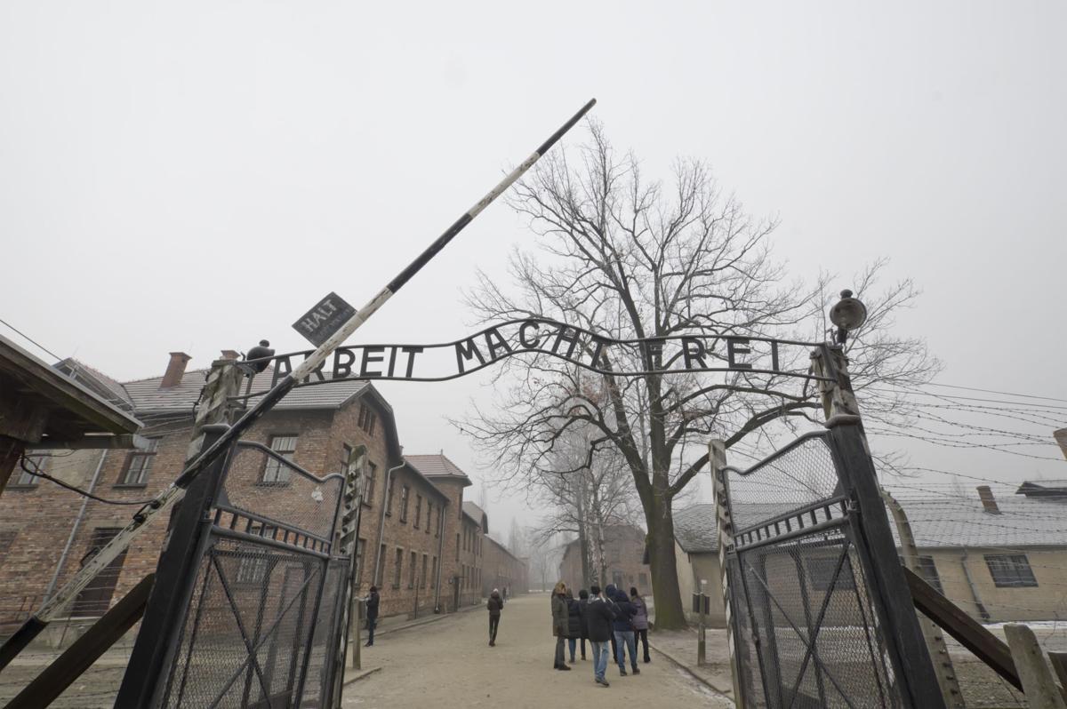 Auschwitz camp entrance in Poland