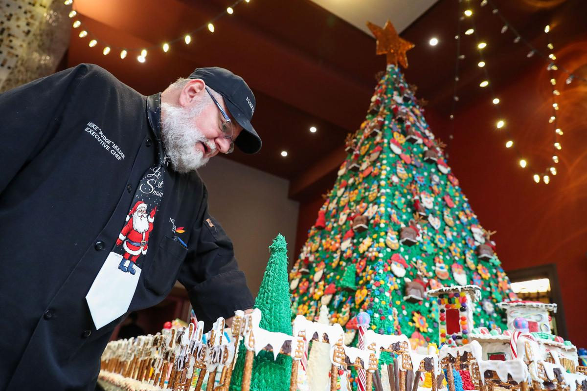 Hotel Dev Conifers Green Giant Gingerbread Village At Omahas Magnolia Hotel Drives