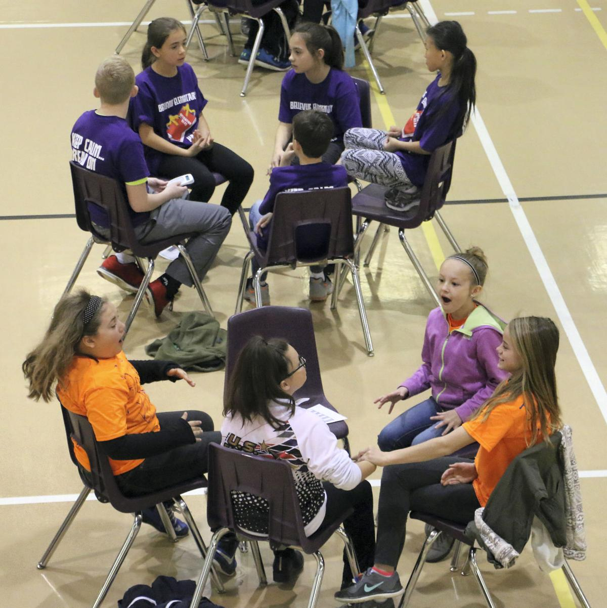 Bellevue Elementary team captures reading competition