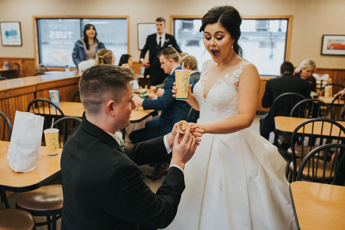 Newlyweds celebrate at Papillion Runza