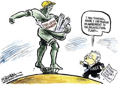 Jeff Koterba's latest cartoon: Capitol construction