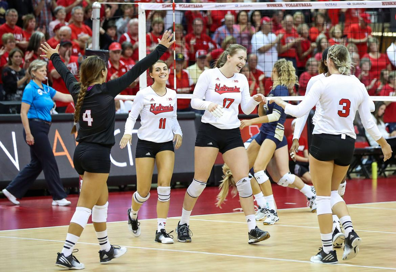 Photos: Nebraska vs. Montana State Women's Volleyball ...