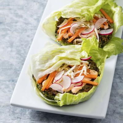 Food Column ATK Spicy Brown Rice Edamame Burgers