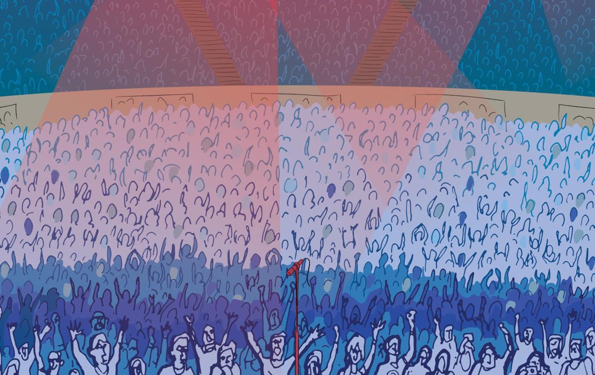 Concert ticket illustration