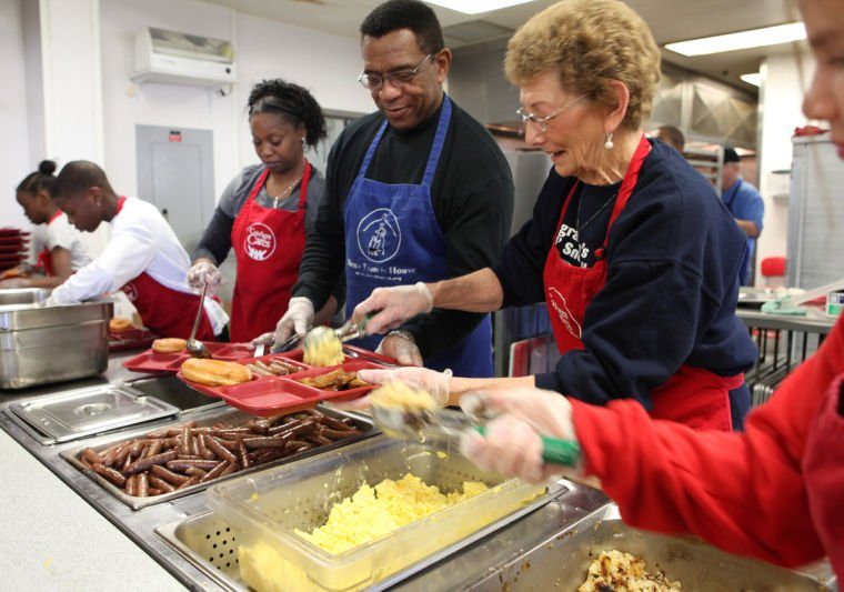 christmas brunch at homeless shelter is about more than just the