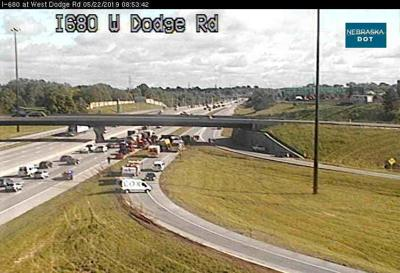 Cement truck overturns on Interstate 680 in Omaha | Public