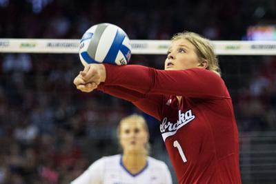 Nebraska sophomore setter Nicklin Hames likes being just as effective on defense