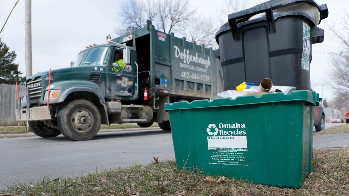 Trash, recycling pickup delayed in Omaha because of the snow