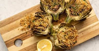 Don't be intimidated - these garlicky stuffed artichokes are sure to impress