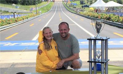Kelsey Van Waart's world championship drive in soap box derby was family affair