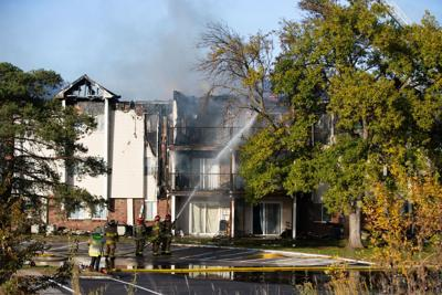 Apartment fire fills skies with smoke near 108th and Blondo during rush hour