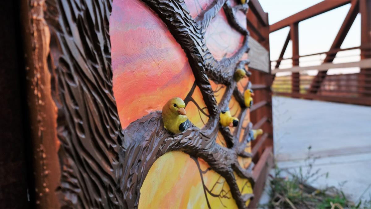 """""""Goldfinch Gates"""" detail"""
