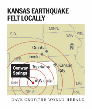 Kansas earthquake map