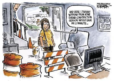 Jeff Koterba's Sept. 13 cartoon: Caution: Construction ahead