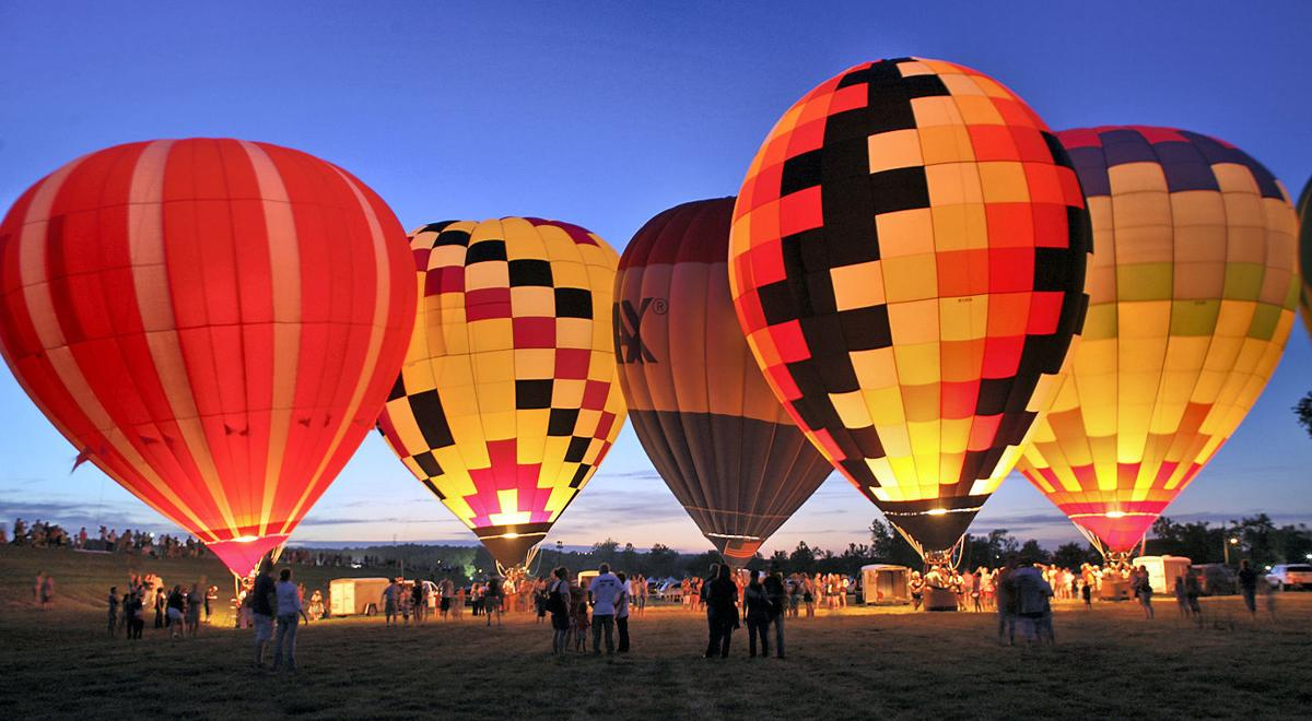 Check out some hot air balloons