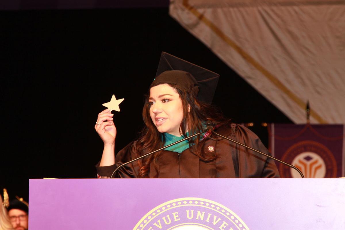 Leia Baez graduation commencement - Bellevue University