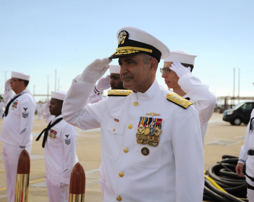 VADM Charles Richard aboard USS Washington
