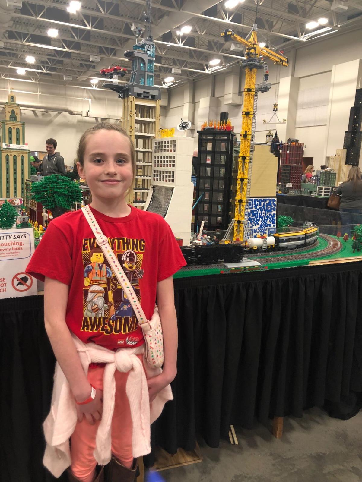 Lego fan Evie Earlywine