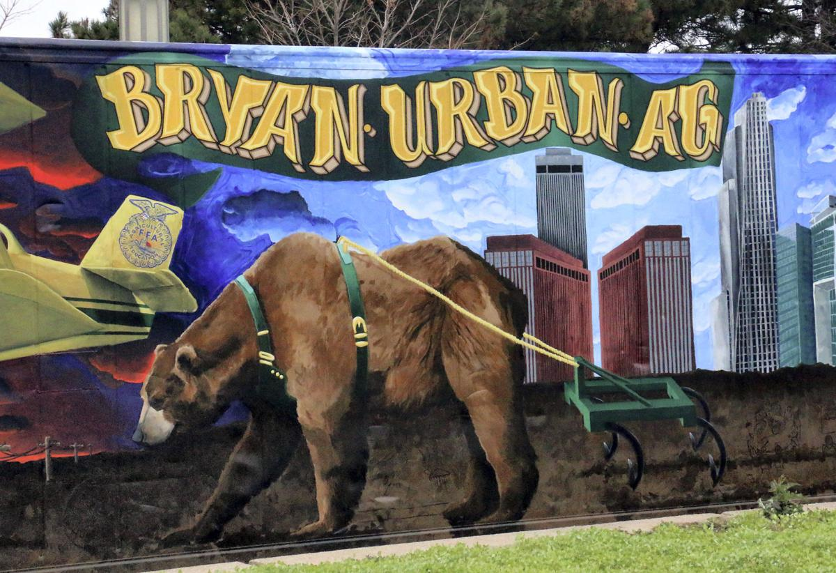 AgroBox mural completed at Bryan