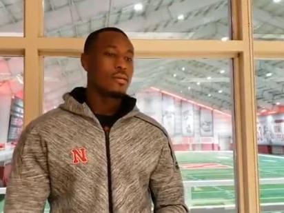 Watch this Husker linebacker crush a version of 'This Christmas'