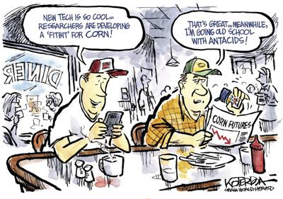 Jeff Koterba's latest cartoon: High-tech Huskers