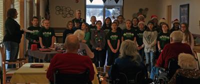 Choir caroling