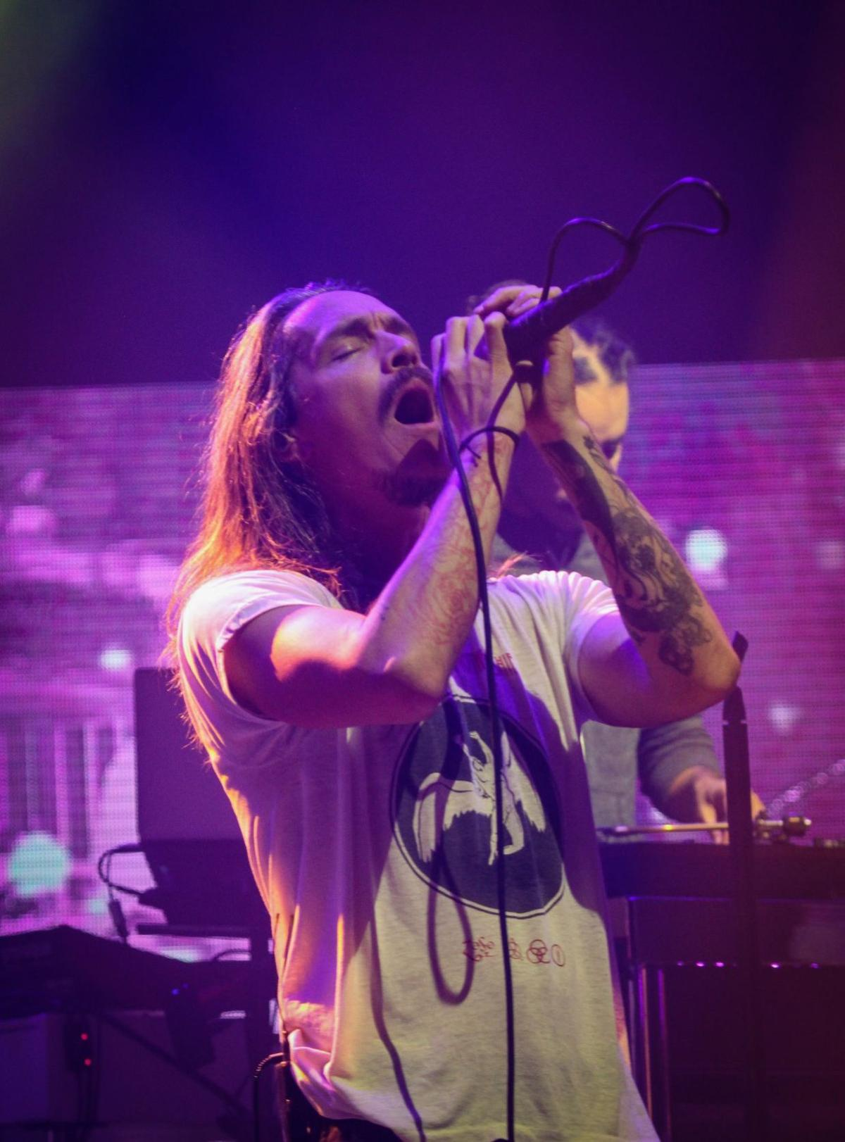Brandon Boyd performs with Incubus at the Orpheum Theater in Omaha.