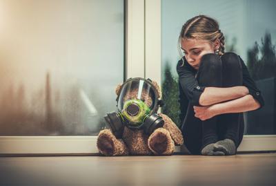 Girl Protected Her Teddy Bear (copy)