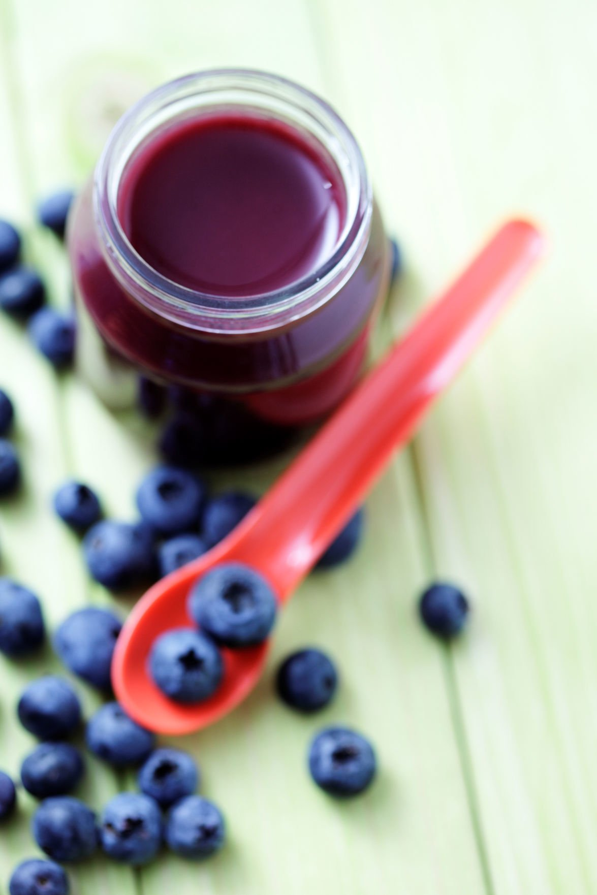 baby food - blueberries