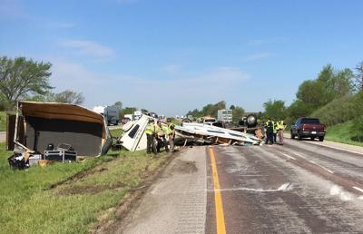 Christian rock band members hurt in I-80 RV crash on their way to