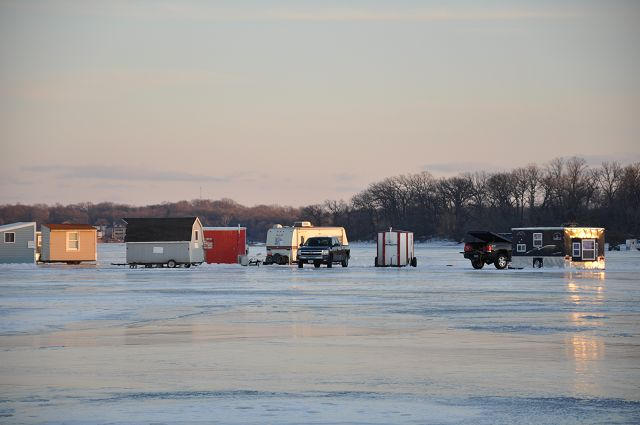 Ice shelters have comforts of home, but be careful of changing conditions