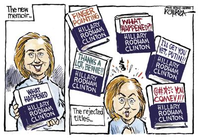 Jeff Koterba's Sept. 8 cartoon: Hillary's rejected titles
